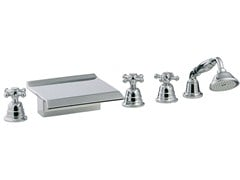 - 5 hole bathtub set with hand shower OLD ITALY | Bathtub set - Rubinetterie 3M