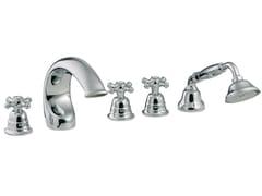 - 5 hole bathtub set with hand shower OLD ITALY | 5 hole bathtub set - Rubinetterie 3M