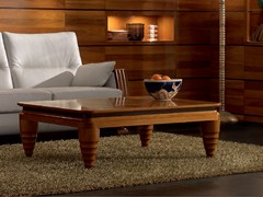 - Low rectangular solid wood coffee table ELETTRA DAY | Walnut coffee table - Cantiero