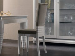 - Upholstered lacquered solid wood chair ELETTRA DAY | Upholstered chair - Cantiero