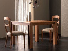 - Extending rectangular solid wood table ELETTRA DAY | Solid wood table - Cantiero