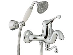 - Wall-mounted bathtub mixer with hand shower PICCADILLY | Wall-mounted bathtub mixer - Rubinetterie 3M