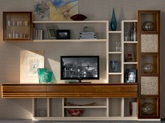 - Sectional solid wood storage wall ELETTRA DAY | Solid wood storage wall - Cantiero