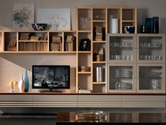 - Sectional solid wood storage wall ELETTRA DAY | Storage wall - Cantiero