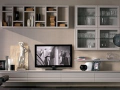 - Sectional solid wood storage wall ELETTRA DAY | Sectional storage wall - Cantiero