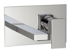 - Wall-mounted washbasin mixer with plate Q   Washbasin mixer with plate - Rubinetterie 3M