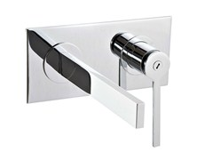 - Wall-mounted washbasin mixer with plate TIME | Washbasin mixer with plate - Rubinetterie 3M