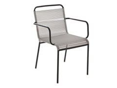 - Steel garden chair with armrests POP | Garden chair with armrests - Il Giardino di Legno