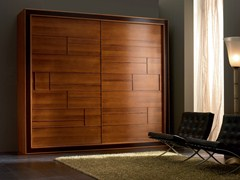 - Walnut wardrobe with sliding doors ELETTRA NIGHT | Wardrobe - Cantiero
