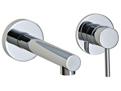 - 2 hole wall-mounted washbasin mixer VELA | Wall-mounted washbasin mixer - Rubinetterie 3M