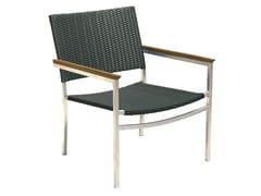 - Stackable polyethylene garden armchair with armrests MILLENIUM | Garden armchair - Il Giardino di Legno