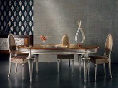 - Extending oval silver leaf table ÉTOILE DAY | Extending table - Cantiero