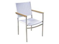 - Stackable garden chair with armrests CENTENARY | Polyethylene garden chair - Il Giardino di Legno