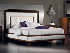 - Leather double bed with upholstered headboard ÉTOILE NIGHT | Bed - Cantiero