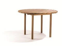 - Round teak garden table DJURÖ | Round garden table - Skargaarden