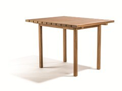 - Square teak garden table DJURÖ | Square garden table - Skargaarden