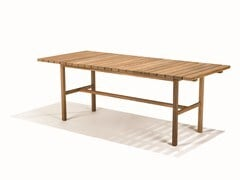 - Rectangular teak garden table DJURÖ | Rectangular garden table - Skargaarden