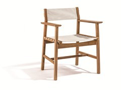 - Batyline® garden chair with armrests DJURÖ | Batyline® garden chair - Skargaarden
