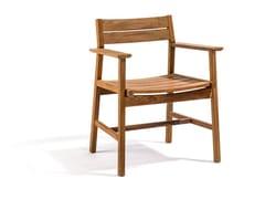 - Teak garden chair with armrests DJURÖ | Teak garden chair - Skargaarden