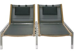 - Double Recliner garden daybed with Casters ADAMAS | Double garden daybed - Il Giardino di Legno