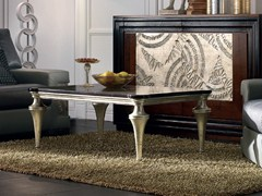 - Rectangular silver leaf coffee table ÉTOILE DAY | Silver leaf coffee table - Cantiero
