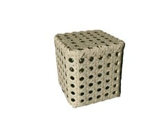 - Low Square synthetic fibre garden side table ISABEL   Square garden side table - Il Giardino di Legno