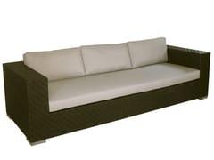 - 4 seater synthetic fibre garden sofa MAUI | 4 seater garden sofa - Il Giardino di Legno