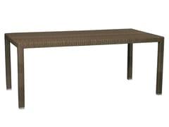 - Rectangular synthetic fibre garden table MAUI | Rectangular garden table - Il Giardino di Legno