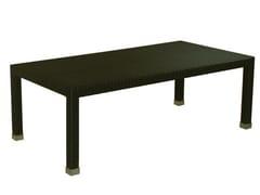 - Low Rectangular synthetic fibre garden side table MAUI | Rectangular garden side table - Il Giardino di Legno
