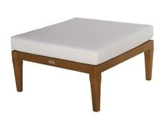 - Square wooden garden footstool GEORGETOWN | Square garden footstool - Il Giardino di Legno