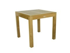 - Square wooden garden table VENEZIA | Square garden table - Il Giardino di Legno
