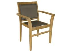 - Stackable Batyline® garden armchair with armrests MACAO | Garden armchair - Il Giardino di Legno