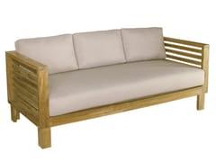 - 3 seater wooden garden sofa SAINT TROPEZ | 3 seater garden sofa - Il Giardino di Legno