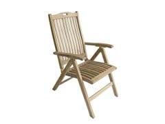 - Recliner wooden garden chair with armrests MOON | Recliner garden chair - Il Giardino di Legno
