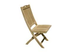 - Folding wooden garden chair MOON | Folding garden chair - Il Giardino di Legno