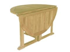 - Folding Round wooden garden table TELEMACO | Round garden table - Il Giardino di Legno