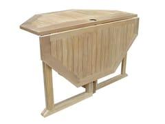 - Folding wooden garden table TELEMACO | Garden table - Il Giardino di Legno