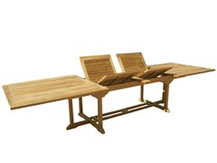- Extending Rectangular wooden garden table OLIMPO | Rectangular garden table - Il Giardino di Legno