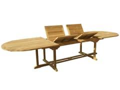- Extending Oval wooden garden table OLIMPO | Oval garden table - Il Giardino di Legno