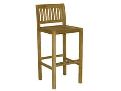 - Wooden garden stool with high back SAVANA | Garden stool with high back - Il Giardino di Legno