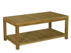 - Rectangular wooden garden side table SAVANA | Rectangular garden side table - Il Giardino di Legno