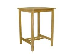 - Square wooden high table BAR | Square garden table - Il Giardino di Legno