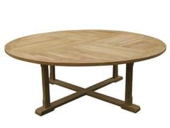 - Mesa de jardim redonda de madeira ATHENA - Il Giardino di Legno