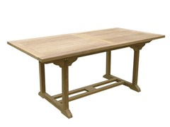 - Rectangular wooden garden table BRISTOL | Rectangular garden table - Il Giardino di Legno