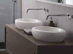 Lavabo da appoggio ovale in ceramicaFLUID | Lavabo ovale - CERAMICA CIELO