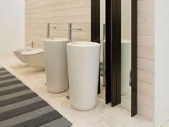 Lavabo freestanding in ceramicaFLUID | Lavabo freestanding - CERAMICA CIELO