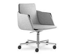 - Height-adjustable task chair with 5-Spoke base with casters HARMONY   Task chair with armrests - LD Seating