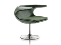 - Swivel leather easy chair with armrests FROST | Swivel easy chair - Stouby Furniture