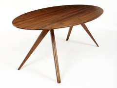 - Oval walnut dining table OSKAR | Oval table - Dare Studio