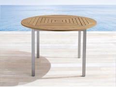 - Round teak garden table SAMBA | Round garden table - Roberti Rattan